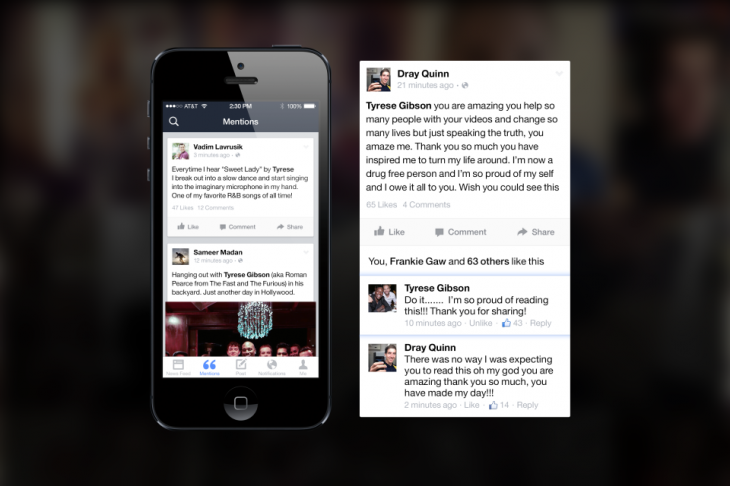introducingmentions 2 730x486 Facebook launches Mentions, an iPhone app just for famous people