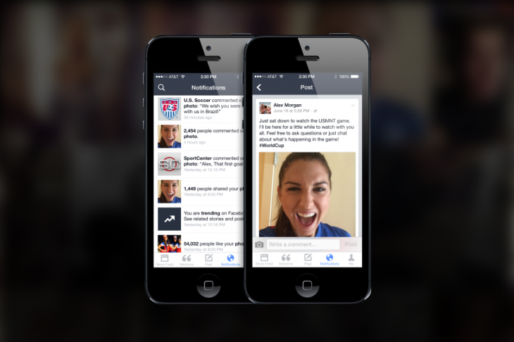 introducingmentions 5 730x486 Facebook launches Mentions, an iPhone app just for famous people