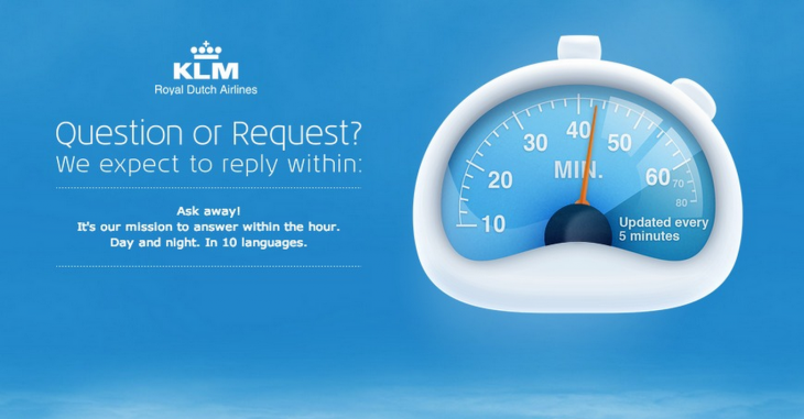 klm fb 730x381 5 strategies behind awesome customer service on social media