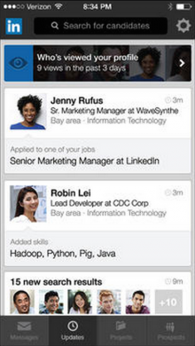 linkedin recruiter 220x390 LinkedIn behind the scenes: How multiple apps evolved into a mobile platform for your work life