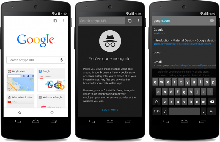 material 730x473 Chrome Beta for Android updated with Material Design tweaks and simplified sign in