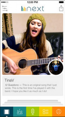 next app 220x392 Tinder co founder's Next iPhone app has you swiping to discover new indie musicians