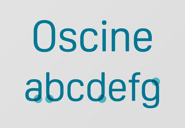 oscine The most beautiful typefaces from June 2014