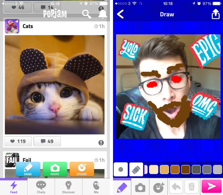 popjam1 Mind Candy gets social with Instagram inspired PopJam app for kids