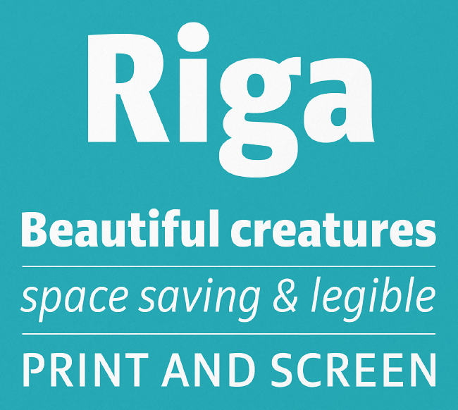 riga The most beautiful typefaces from June 2014