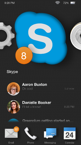 skype for android fire Skype readies a Fire Phone app that uses Dynamic Perspective for its icon and notification badge