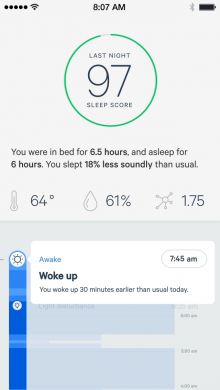 sleep app 2 220x390 Sense is a bedside gadget for monitoring and improving your sleep