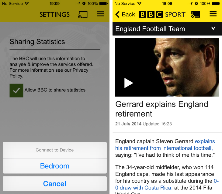 sport1 BBC Sport app gets Chromecast streaming just in time for the Commonwealth Games