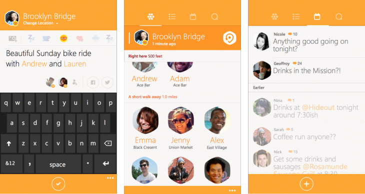 swarm windowsphone 730x389 Foursquare says Swarm for Windows Phone is coming in the next few weeks