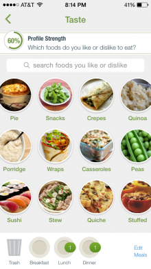 taste screen photo 220x390 Nutrino for iPhone is now better at helping you eat better