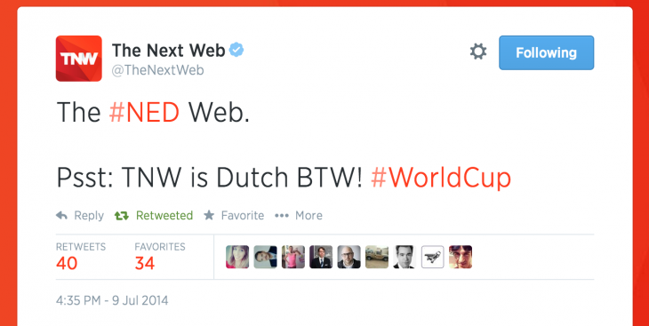 tnw world cup tweet 730x367 Overcoming the flawed paradigm of social media measurement
