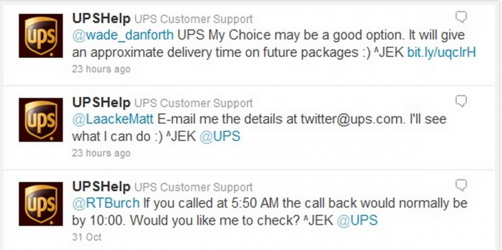 ups tweet 730x364 5 strategies behind awesome customer service on social media