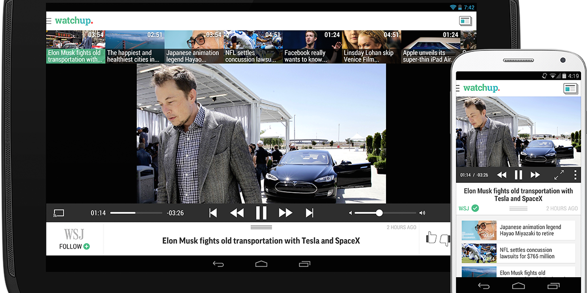 Watchup brings its video news app to Android phones - The Next Web