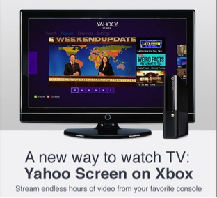 yahooscreen xbox360 Yahoo Screen arrives on the Xbox 360