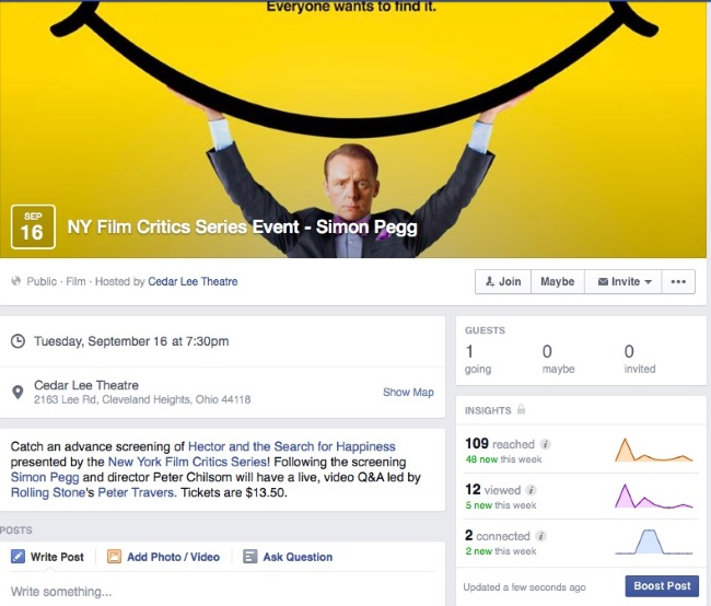 how to create an event in facebook page