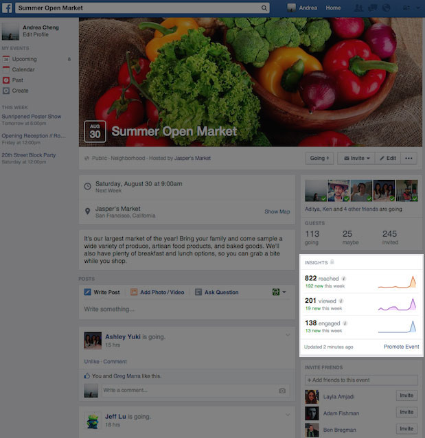 how to create an event on a facebook band page