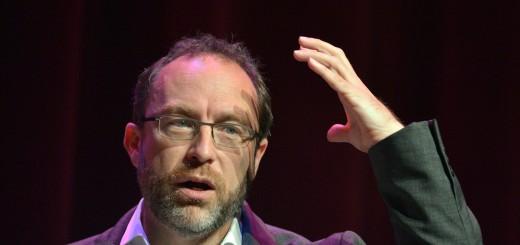 Wikipedia founder Jimmy Wales speaks dur