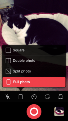 2014 08 21 13.25.52 220x390 Camu for iPhone puts an elegant spin on social photography