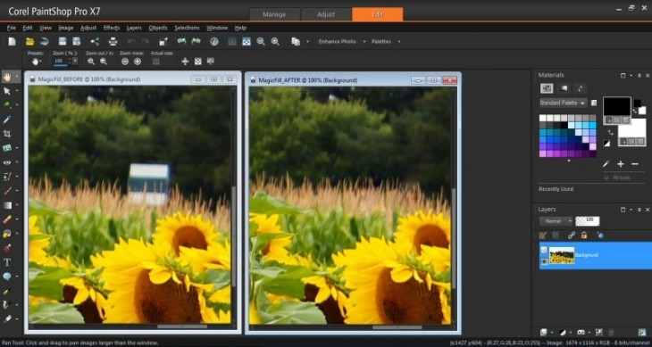 20140826 MagicFill800 730x389 Corel overhauls PaintShop Pro, unveiling new tools and a revamped interface