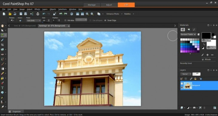20140826 SmartEdge800 730x388 Corel overhauls PaintShop Pro, unveiling new tools and a revamped interface