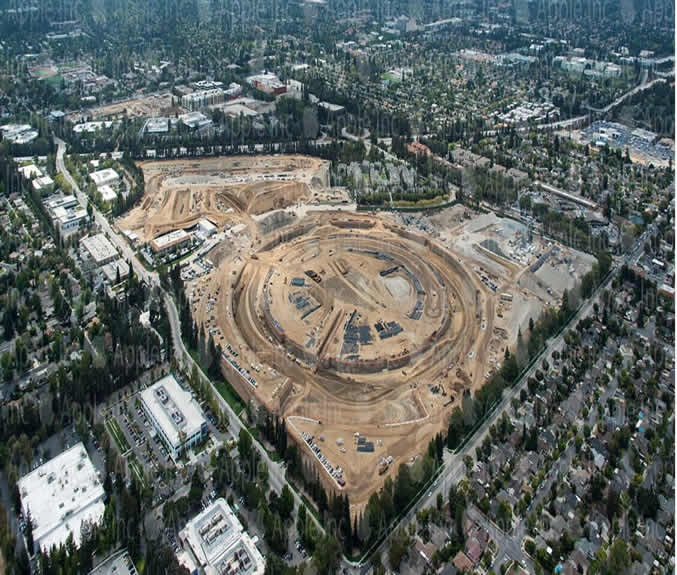 Apple2 update New aerial photo shows Apples spaceship campus taking shape