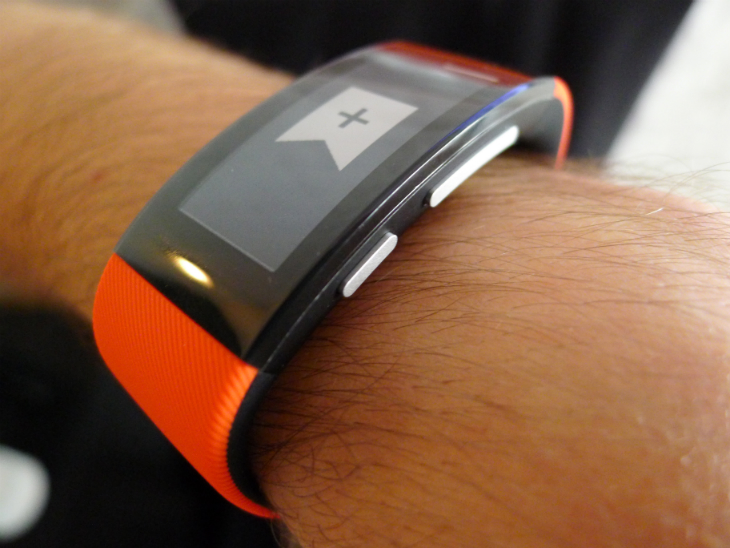Band4 Sony's SmartBand Talk fitness tracker has a curved e ink display and built in mic for taking calls