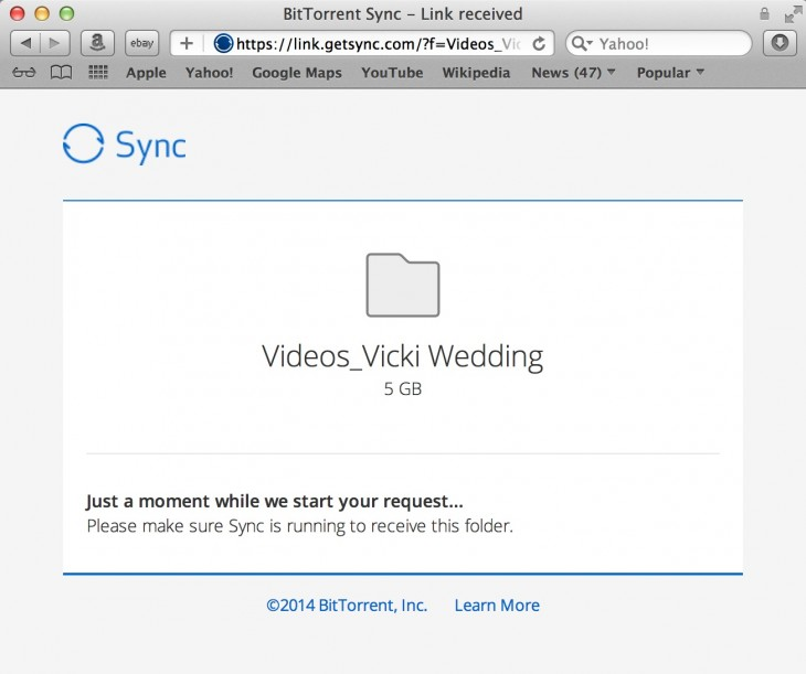 BitTorrent Sync 1 4 9 730x611 10 million installs later, BitTorrent Sync gets new interface, sharing via links, and proxy server support