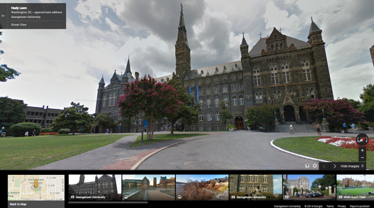 Georgetown 730x407 Google adds 36 university campuses across the US and Canada to Street View