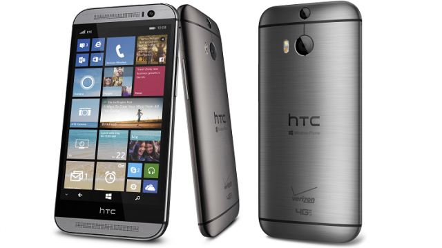HTCONEM8WINDOWS HTC One (M8) for Windows officially launched as a Verizon exclusive, available today for $99 up front