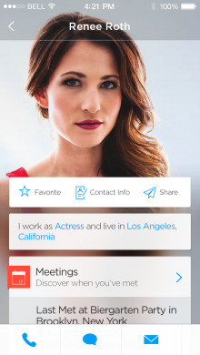 HUMIN profile screen 220x390 Humin: A super smart way to manage contacts on your iPhone, and it launches today