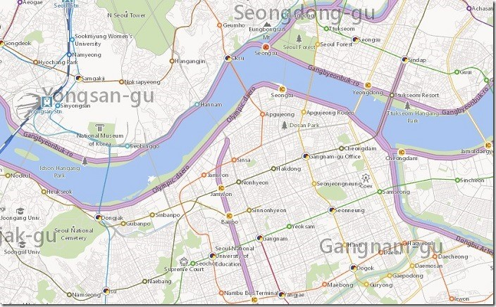 HelloWorld KoreanMapImplementation Current Bing Maps has been updated with detailed maps of Korea