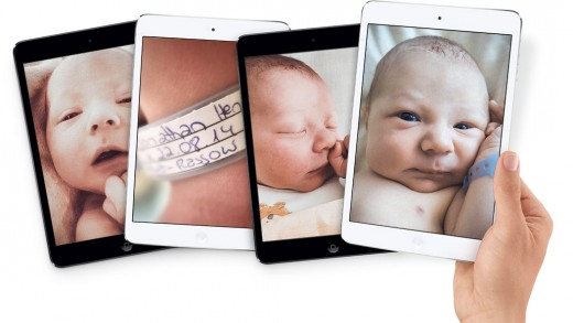 Jonathan Henry Apple 520x293 Heres how true Apple fanboys should introduce a newborn baby to the world