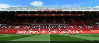 General view of Old Trafford Stadium bef