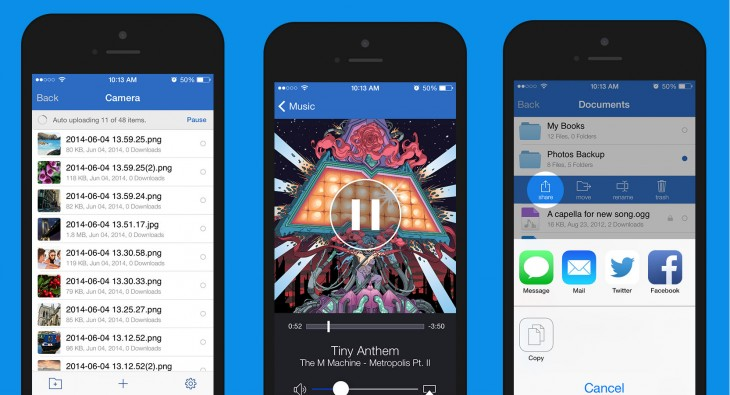 MediaFire iOS 730x395 Mediafires Dropbox like iOS app gets automatic photo syncing, new sharing options