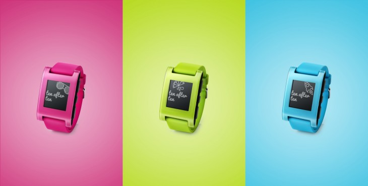 Pebble Smartwatch FreshHotFly Color Burst FRESHHOTFLY 730x370 Pebble launches limited edition neon green, blue and pink smartwatches