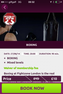 Photo 25 08 2014 09 32 55 220x330 Bored of the gym? This iPhone app gives Londoners a curated choice of quirky fitness classes