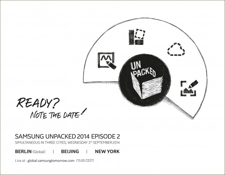 Samsung Unpacked 2014 Invitation2 730x568 Samsung drops a heavy hint that the Galaxy Note 4 will be unveiled on September 3