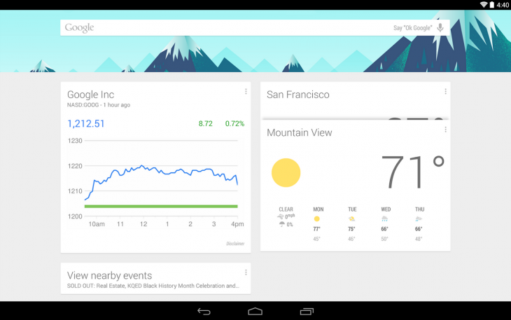 Screen Shot 2014 08 01 at 1.09.10 PM 730x457 Google Now Launcher is now available for all Android 4.1 and later devices
