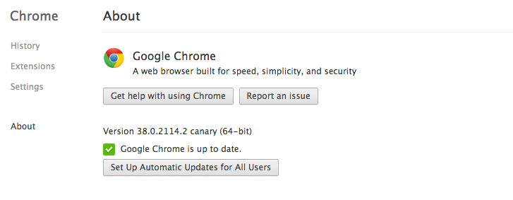 Screen Shot 2014 08 05 at 15.44.15 Google quietly introduces a 64 bit version of its Chrome Canary browser for Mac OS X