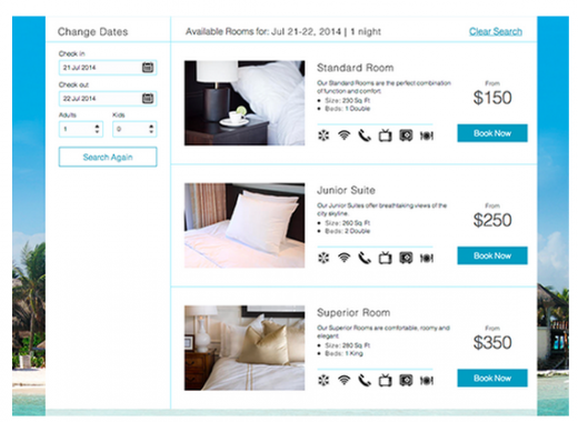 Screen Shot 2014 08 05 at 7.52.13 AM 1 520x380 Easy website builder Wix targets hotels with a special reservation booking engine