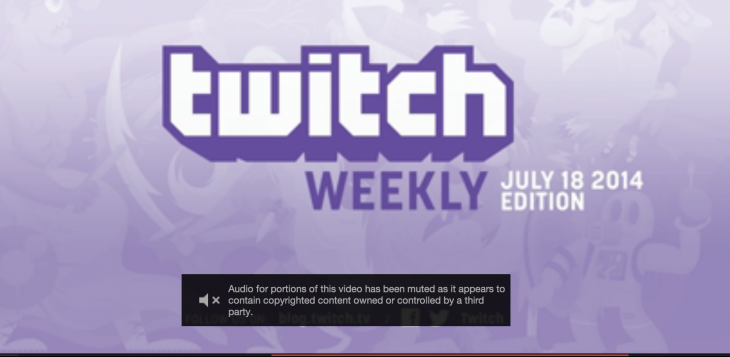 Screen Shot 2014 08 06 at 4.11.21 PM 730x357 Twitch introduces unpopular copyright protections as it gets its affairs in order