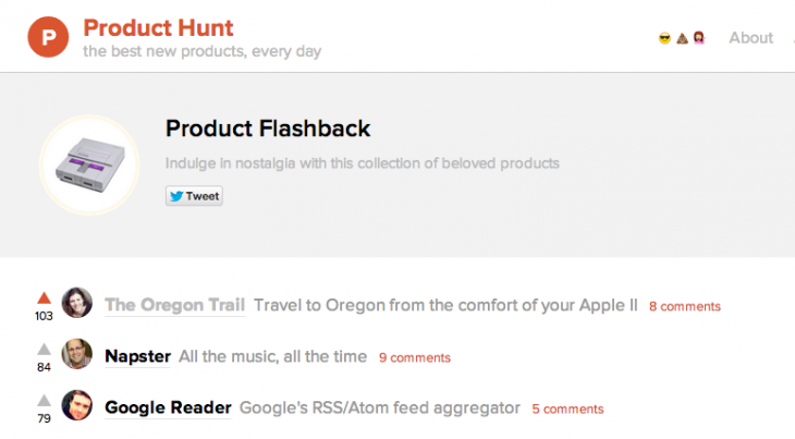 Screen Shot 2014 08 11 at 2.43.37 PM 730x403 The 7 best Product Hunt lists you didnt even know existed