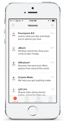 Screen Shot 2014 08 21 at 8.47.29 pm 220x413 Product Hunt, the Reddit for apps, launches on iOS