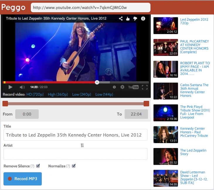 Screen Shot 2014 08 22 at 4.17.01 PM 730x648 Peggo online DVR puts YouTube and SoundCloud on your desktop