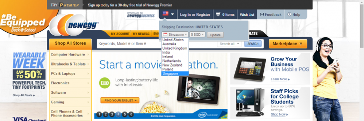 Screenshot 2014 08 13 11.33.45 730x244 US online retailer Newegg is now selling in India, Singapore and 4 other countries
