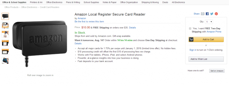 Screenshot 2014 08 13 15.15.46 730x276 Amazon takes on Square with Local Register, a mobile card reader with lower transaction fees