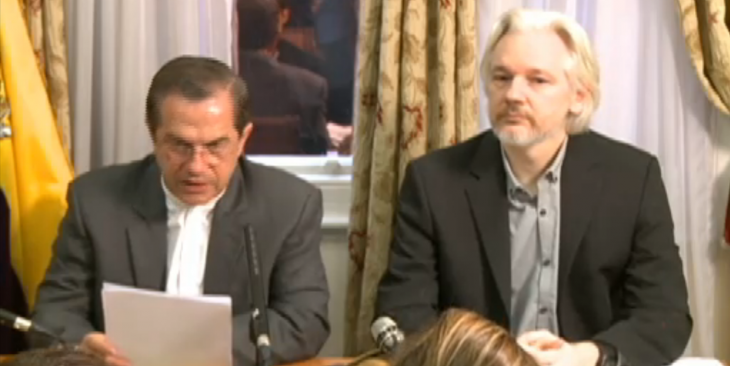 Screenshot 2014 08 18 15.21.58 730x366 Wikileaks founder Julian Assange plans to leave the Ecuadorian embassy in London soon