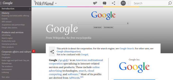 Screenshot 2014 08 19 10.48.54 730x337 WikiWand makes Wikipedia beautiful