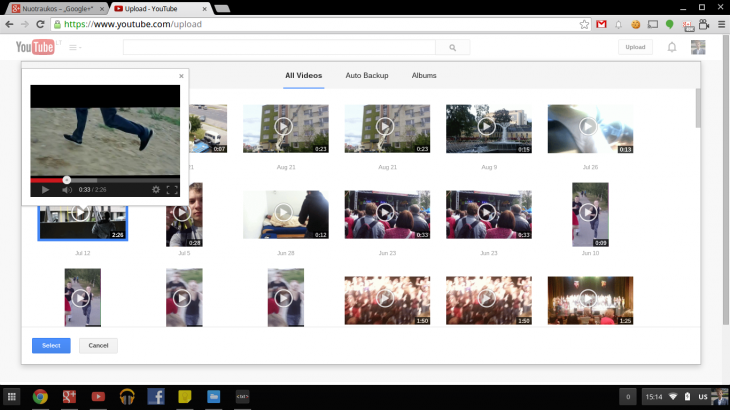 Screenshot 2014 08 25 at 15.14.04 730x410 YouTube will soon give you the option to import your Google+ videos