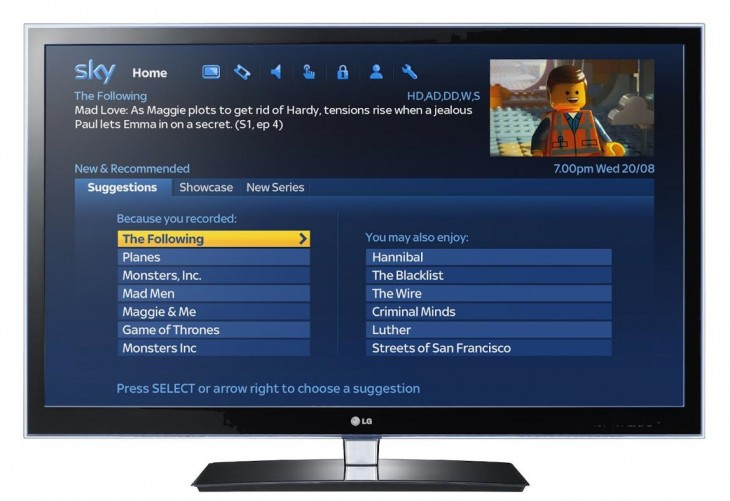 Sky UI1 730x501 Sky introduces new 'recommendation engine', Smart Series Link and more for Sky+HD TV customers